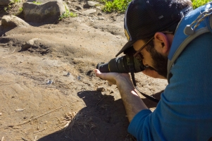 Getting up close and personal to my subjects. (Photo Credit: Alex Nguyen)