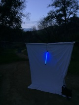 We used a battery powered blacklight, making everything lightweight.